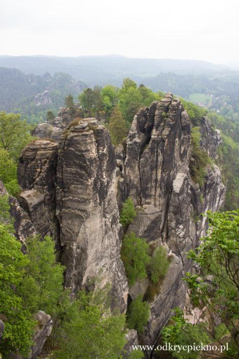 Góry Połabskie Bastei Niemcy Saksonia