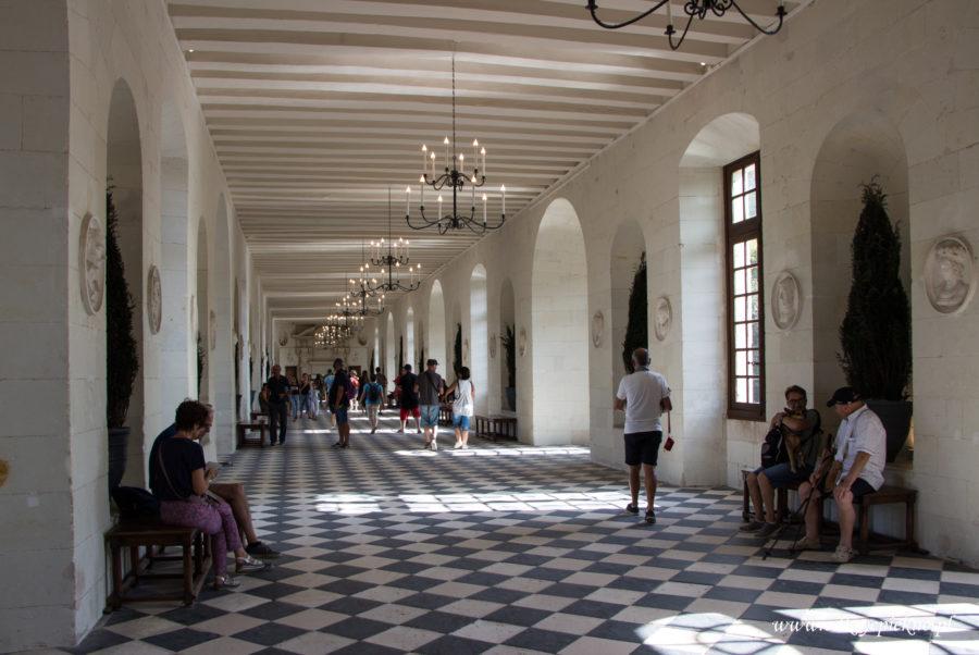 Galeria zamek Chenonceau